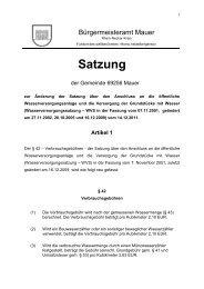 Änderungssatzung (WSV) vom 14.12.2011 - Gemeinde Mauer