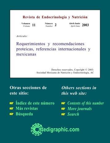 Requerimientos y recomendaciones proteicas ... - edigraphic.com