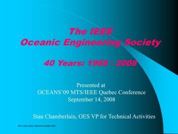 The IEEE Oceanic Engineering Society