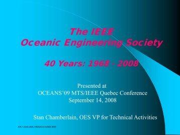 The IEEE Oceanic Engineering Society