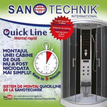 Quick Line - Cabine cu montaj rapid - Sanotechnik