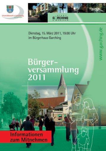 Broschuere - Buergerversammlung Garching2011.qxd