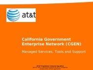 CGEN Forum AT&T Presentation