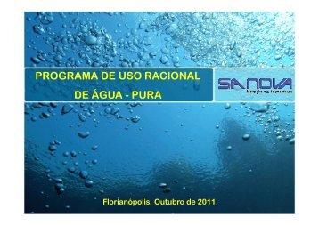 PROGRAMA DE USO RACIONAL DE ÁGUA - PURA