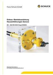 Einbau-/Betriebsanleitung Hauseinführungen Sanova - Schuck Group