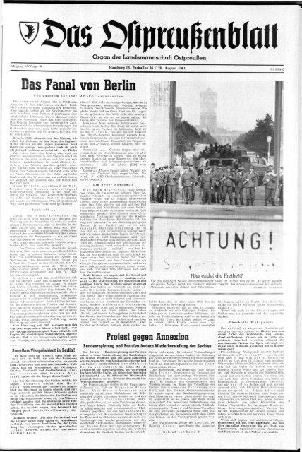 DDR Neues Deutschland August 1961 Geburtstag Hochzeit 59 63 62 60 64 61 PT