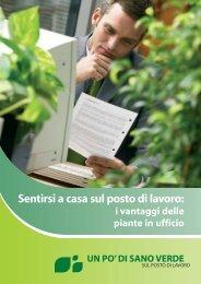 Sentirsi a casa sul posto di lavoro - Healthy green at Work