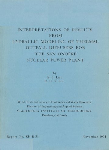 interpretations of results from hydraulic modeling of thermal outfall ...