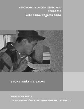 Vete Sano, Regresa Sano subsecretaría - Dirección General de ...