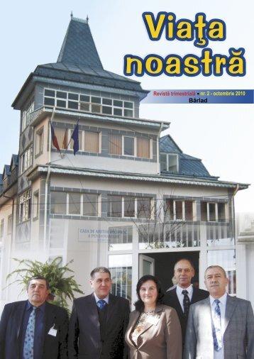 "Numarul 2 - octombrie 2010 - CAR Pensionari ""Elena Cuza"""
