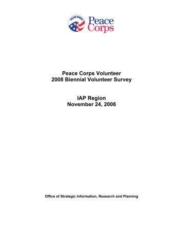 Peace Corps Volunteer 2008 Biennial Volunteer ... - Peace Corps Wiki