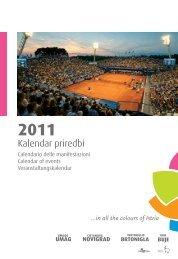 Kalendar priredbi - Istra