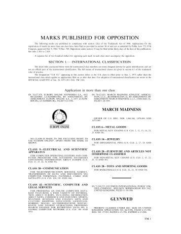 18 December 2001 - U.S. Patent and Trademark Office