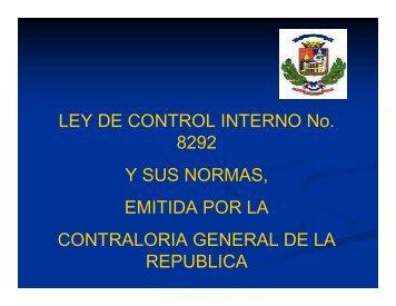 Control Interno - Municipalidad de Montes de Oca