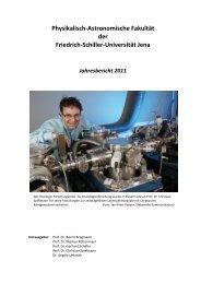 Friedrich-Schiller - Physikalisch-Astronomische Fakultät - Friedrich ...