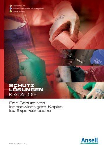 KATALOG SCHUTZ LÖSUNGEN - Ansell Healthcare Europe