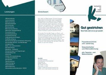 Download Firmenprospekt - hier klicken! - Malermeister Kussauer