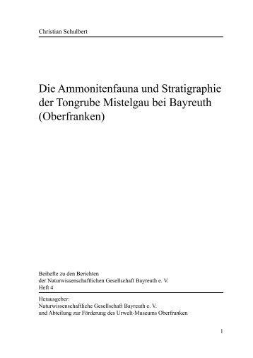 Die Ammonitenfauna und Stratigraphie der Tongrube Mistelgau bei ...