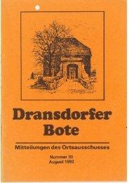 30/1992 - Ortsausschuss Bonn-Dransdorf