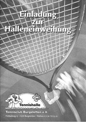 Broschüre - Tennisclub Burgstetten eV