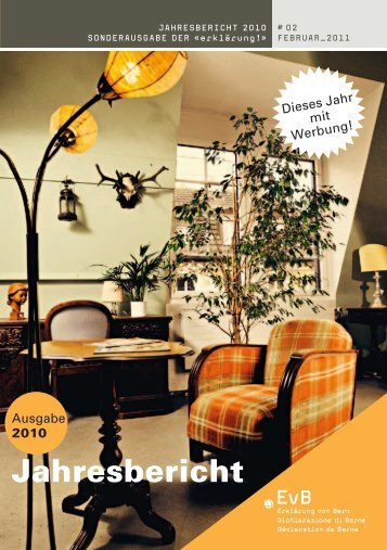 Jahresbericht zum Herunterladen - Erklärung von Bern