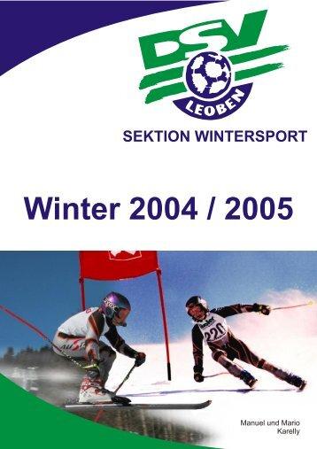 Winter 2004 / 2005 - DSV Leoben