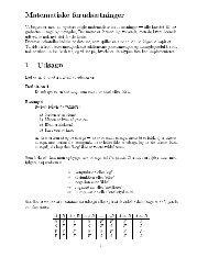 Matematiske foruds tninger 1 Udsagn