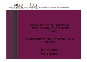 Specialist Infant Protective Workers the Voices of the Infant ...