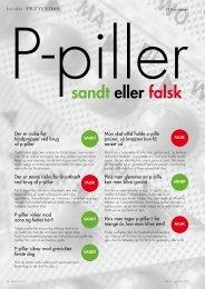 P-piller Sandt eller falsk - gynækolog christine felding
