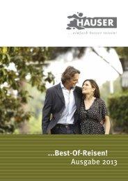 ...Best-Of-Reisen! Ausgabe 2013 - HAUSER