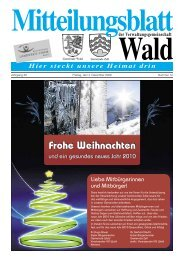 Dezember 2009 - Gemeinde WALD