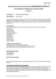 45 Sitzung vom 23-08-2012 - Gemeinde WALD