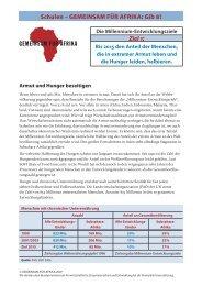 Schulen – GEMEINSAM FÜR AFRIKA: Gib 8 - CARE Deutschland e.V.