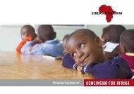 TÄTIGKEITSBERICHT - Gemeinsam für Afrika
