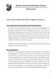 SIRT - Gemeinschaftsklinikum Koblenz-Mayen