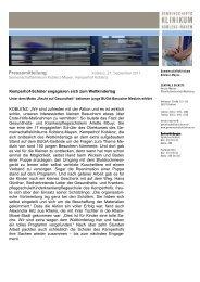 Weltkindertags - Gemeinschaftsklinikum Koblenz-Mayen