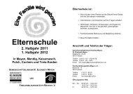 Elternschule - Gemeinschaftsklinikum Koblenz-Mayen