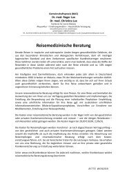 Reisemedizinische Beratung - Gemeinschaftspraxis Dr. med. Roger ...