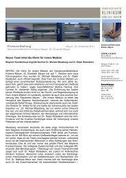 Pressemitteilung - Gemeinschaftsklinikum Koblenz-Mayen