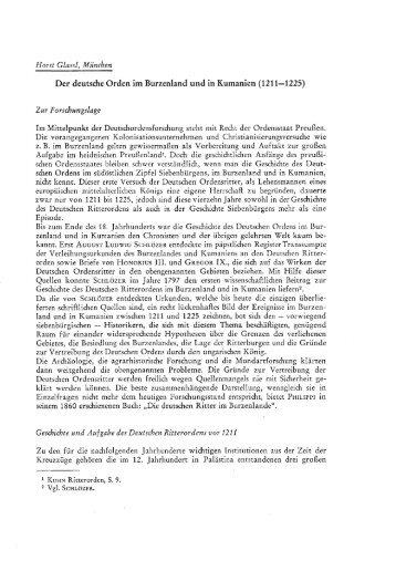 Der Deutschen Orden im Burzenland und in Kumanien - EPA