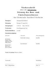 Niederschrift Sitzung des Bau- und Umweltausschusses - Gemeinde ...