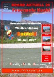 Waldbrand 2007 - Freiwillige Feuerwehr Kuchl