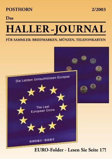HALLER-Journal 2003 Ausgabe 2 (570.49 KB) - Briefmarken HALLER