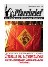 Pfarrbrief 2006 -01: Ostern - Pfarre Oberndorf an der Salzach