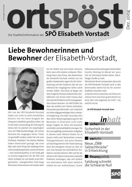 Download OrtSPÖst Elisabeth-Vorstadt - SPÖ Salzburg