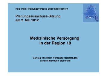 Medizinische Versorgung in der Region 18 - Regionaler ...