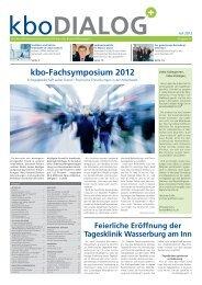kbo-Fachsymposium 2012 - Kliniken des Bezirks Oberbayern