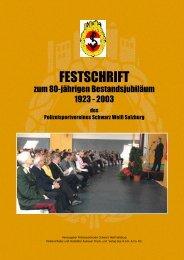 Festschrift 2003 - Polizeisportverein Salzburg