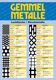 Lochbleche / Streckmetalle - Gemmel Metalle