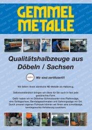 Qualitätshalbzeuge aus Döbeln / Sachsen - Gemmel Metalle
